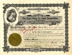 Starr Piano Corporation (Gennett Records ) signed by Harry Gennett  - Richmond, Indiana 1925