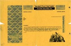 Standard & Poors/InterCapital Securities, Inc. Specimen Proof Stock Certificate (Now Morgan Stanley Income Securities, Inc.)