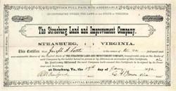 Strasburg Land and Improvement Company 1892 - Strasburg, Virginia