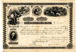 Stroudsburg Bank Pennsylvania 1868