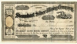 Steamboat Silver Mining Company - Humboldt County, Nevada Territory 1864