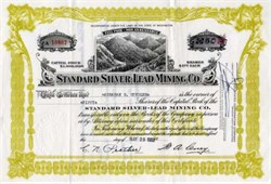 Standard Silver-Lead Mining Company - Washington 1952
