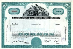 Studebaker Packard Automobile Company  (Financial Problems ended production in 1966)