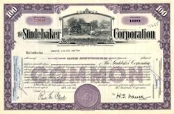 Studebaker Corporation Stock Certificate - First Studebaker Shop Vignette 1947