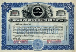 Stewart - Warner Speedometer Corporation - 1915