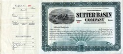 Sutter Basin Company (Named after John Sutter of Sutter's Mill Fame) - California