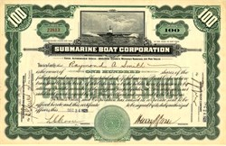 Submarine Boat Corporation - New York 1928