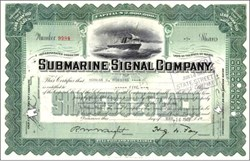 Submarine Signal Company - Pre Raytheon - Steamer Ship Vignette