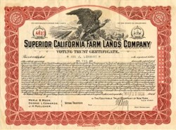 Superior California Farm Lands Company - Delaware 1924