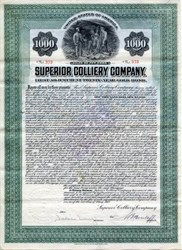 Superior Colliery Company Gold Bond - New York 1912