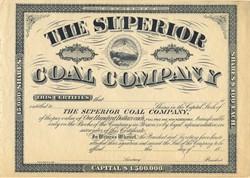 Superior Coal Company - West Virginia 1880's