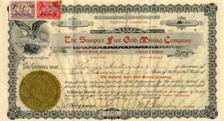 Sumpter Free Gold Mining Company - Sumpter, Oregon  1900