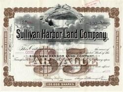 Sullivan Harbor Land Company - Maine 1891 Bar Harbor Vignette