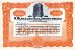 S. Ulmer and Sons, Incorporated - Ohio