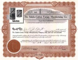 Sulpho - Carbon Foreign Manufacturing Company 1914 - Arizona - Germ killing product