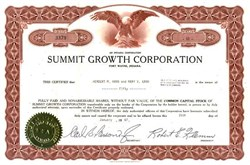 Summit Growth Corporation - 1960's