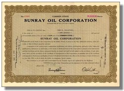 Sunray Oil Corporation - ( Became Sun Oil Company ) 1934