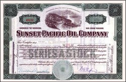 Sunset Pacific Oil Company 1930