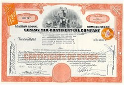 Sunray Mid Continent Oil Company ( Became Sun Oil Company)- 1955