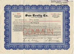Sun Realty Co.- California 1930