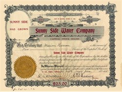 Sunny Side Water Company 1915 - Los Angeles