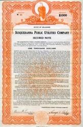 Susquehanna Public Utilities Company - Delaware 1930