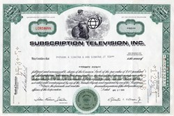 Subscription Television, Inc. issued to Frank A. Sinatra - 1969