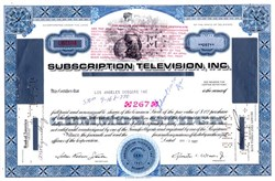 Subscription Television issued to the Los Angeles Dodgers - Delaware 1967