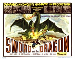 Sword and the Dragon Lobby Card - 1960