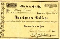 Swarthmore College - Swarthmore, Pennsylvania - 1894