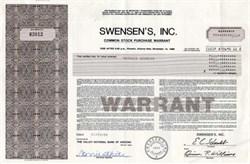 Swensen's, Inc. - Delaware 1984 ( Ice Cream Store )