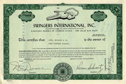 Swingers International, Inc. - Delaware 1971