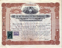 S. W. Woolsey & Son Company - New York 1900