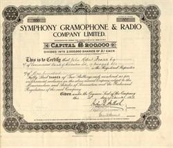 Symphony Gramophone & Radio Company Limited - England 1928
