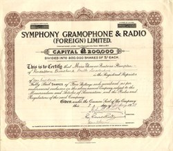 Symphony Gramophone & Radio (Foreign) Limited. - London 1929