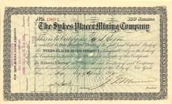 Sykes Placer Mining Company - New York 1880