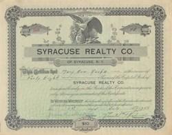 Syracuse Realty Company 1912 - 1921