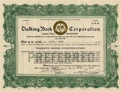 Talking Book Corporation - Delaware 1919