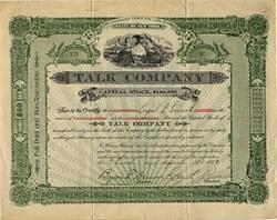 Talk Company - New York 1903