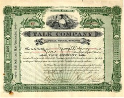 Talk Company (Talk - A Magazine of Society Gossip, Art and Literature) - New York 1903