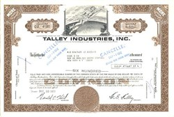 Talley Industries, Inc. (Now Talley Defense Systems) - Delaware 1971