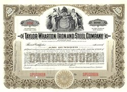 Taylor-Wharton Iron and Steel Company - New Jersey