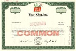 Taco King, Inc. - Delaware 1969