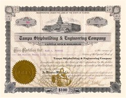 Tampa Shipbuilding & Engineering Company 1919