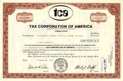 Tax Corporation of America - Maryland 1978