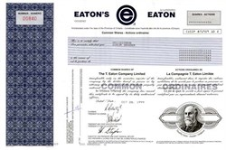 T. Eaton Company Limited - Ontario 1999 ( Now Sears Canada  )