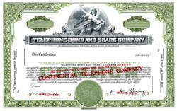 Telephone Bond and Share Company (Became Continental Telephone)  - Delaware