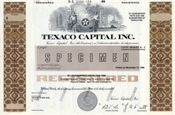 Texaco Capital, Inc. (Pre Chevron Corporation Merger) - Delaware 1989