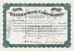 Telegraphone Corporation - 1906