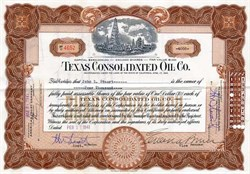 Texas Consolidated Oil Company - California 1940
